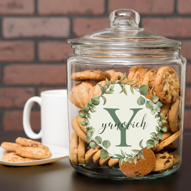 Farmhouse Inspired Personalized Cookie Jar