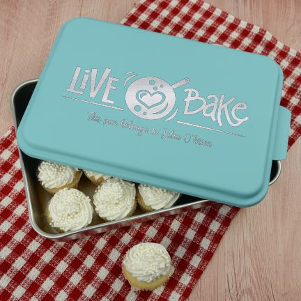Live Love Bake Personalized Cake Pan