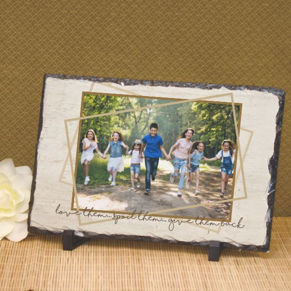 Grandparents give them back personalized plaque