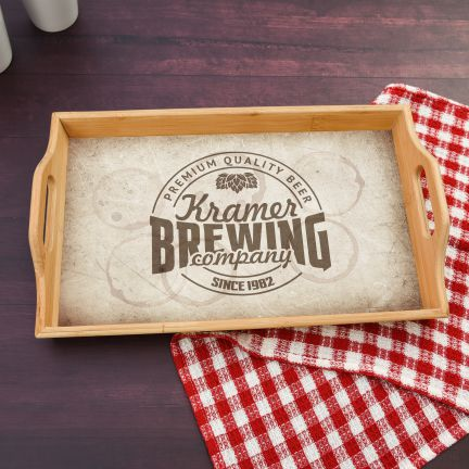 Personalized Serving Tray for Beer Lovers