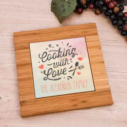 Cooking with Love Personalized Trivet